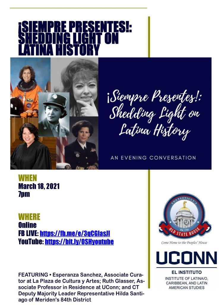 Shedding Light on Latina History Flier
